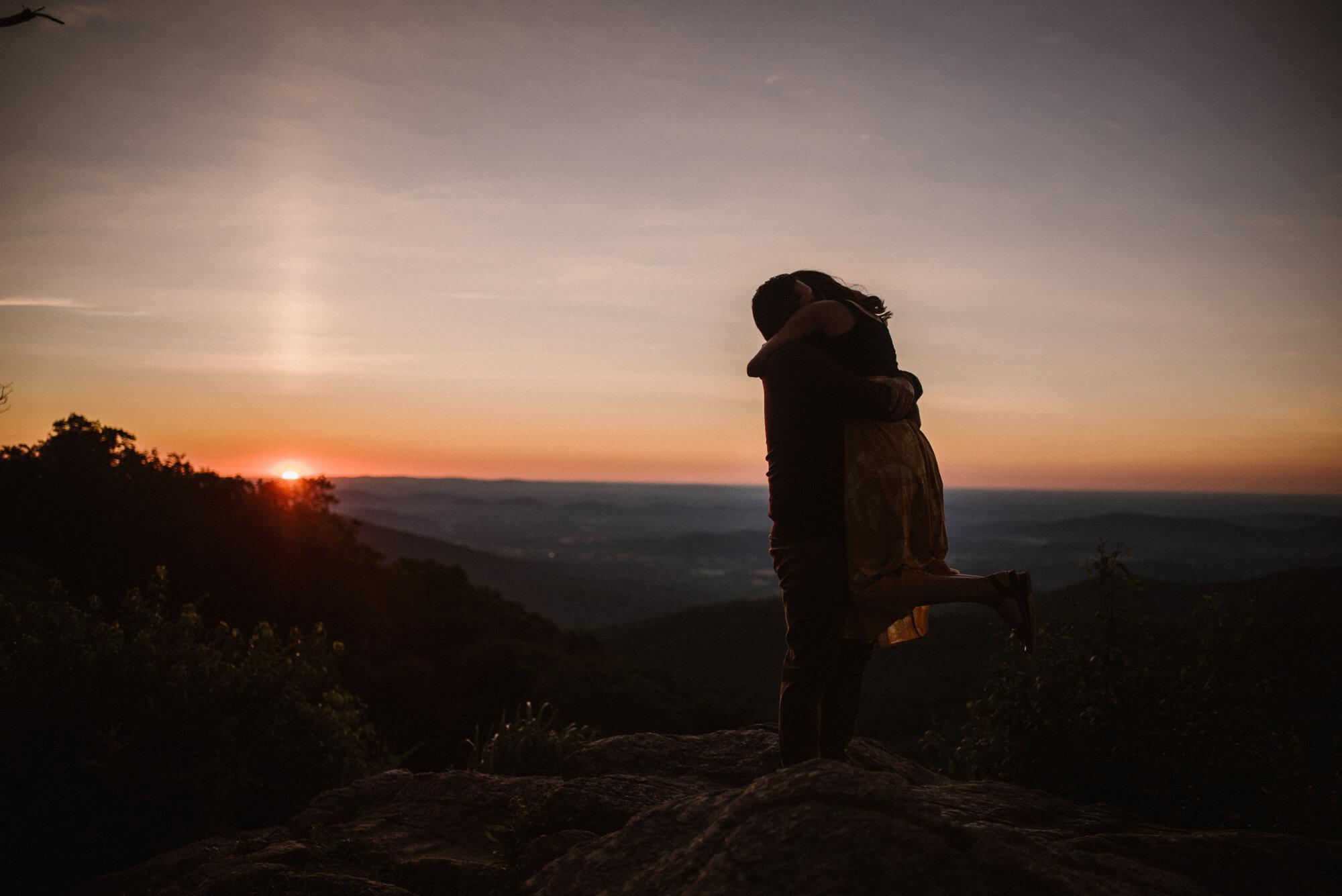 Shenandoah National Park Engagement Session - Sunrise Mountain Couple Photo Shoot - Blue Ridge Mountain Photo Shoot - Shenandoah National Park Photographer - White Sails Creative _5.jpg