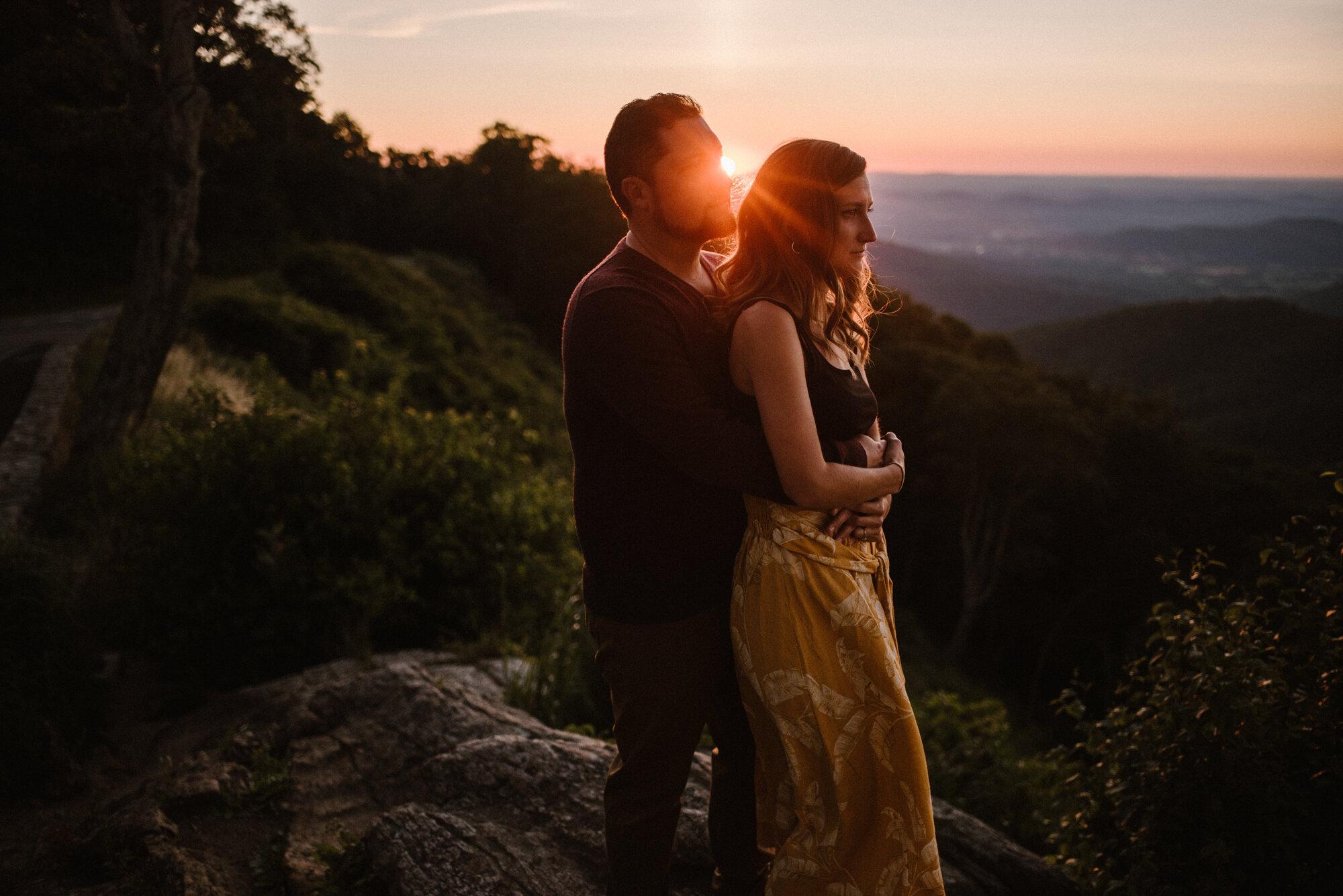 Shenandoah National Park Engagement Session - Sunrise Mountain Couple Photo Shoot - Blue Ridge Mountain Photo Shoot - Shenandoah National Park Photographer - White Sails Creative _7.jpg