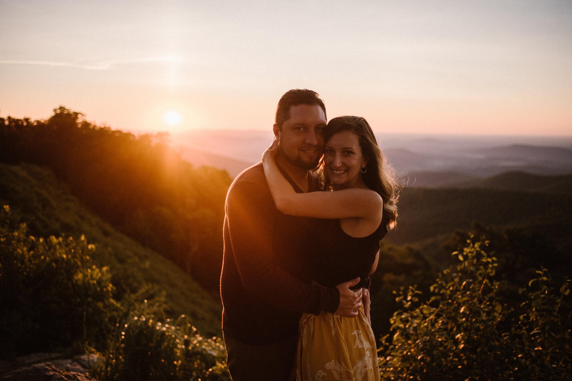 Shenandoah National Park Engagement Session - Sunrise Mountain Couple Photo Shoot - Blue Ridge Mountain Photo Shoot - Shenandoah National Park Photographer - White Sails Creative _9.jpg