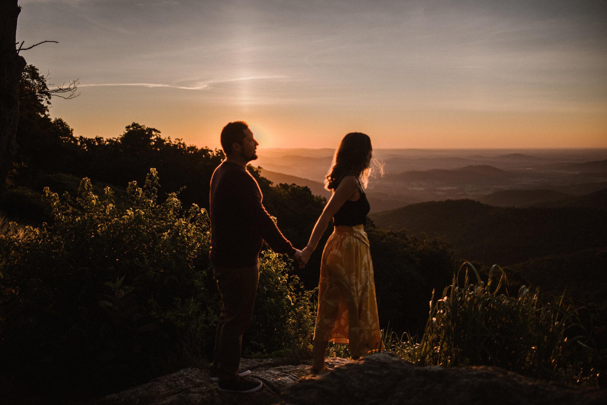 Shenandoah National Park Engagement Session - Sunrise Mountain Couple Photo Shoot - Blue Ridge Mountain Photo Shoot - Shenandoah National Park Photographer - White Sails Creative _10.jpg