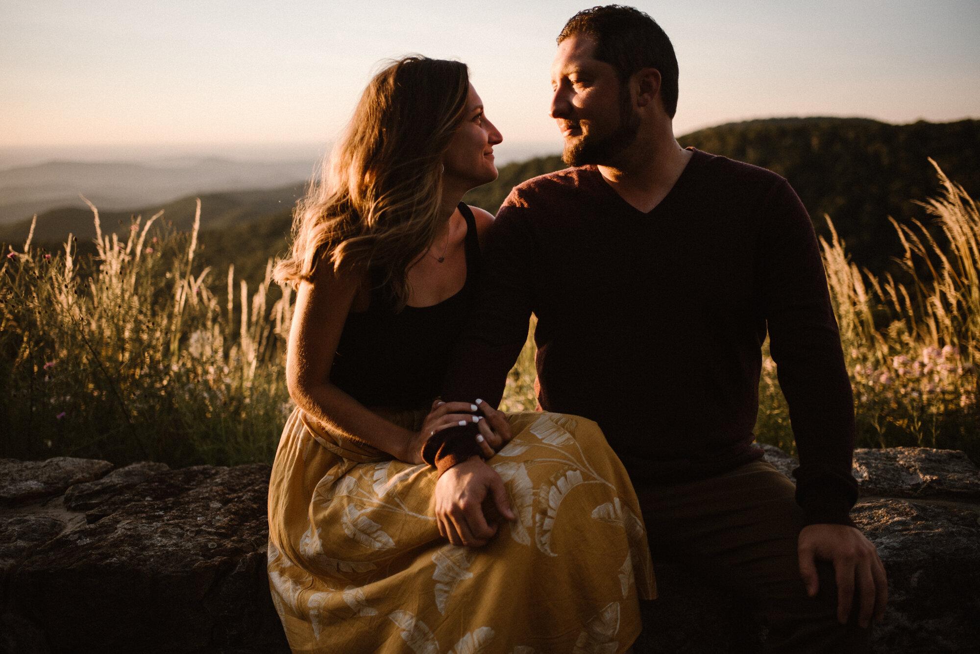 Shenandoah National Park Engagement Session - Sunrise Mountain Couple Photo Shoot - Blue Ridge Mountain Photo Shoot - Shenandoah National Park Photographer - White Sails Creative _15.jpg