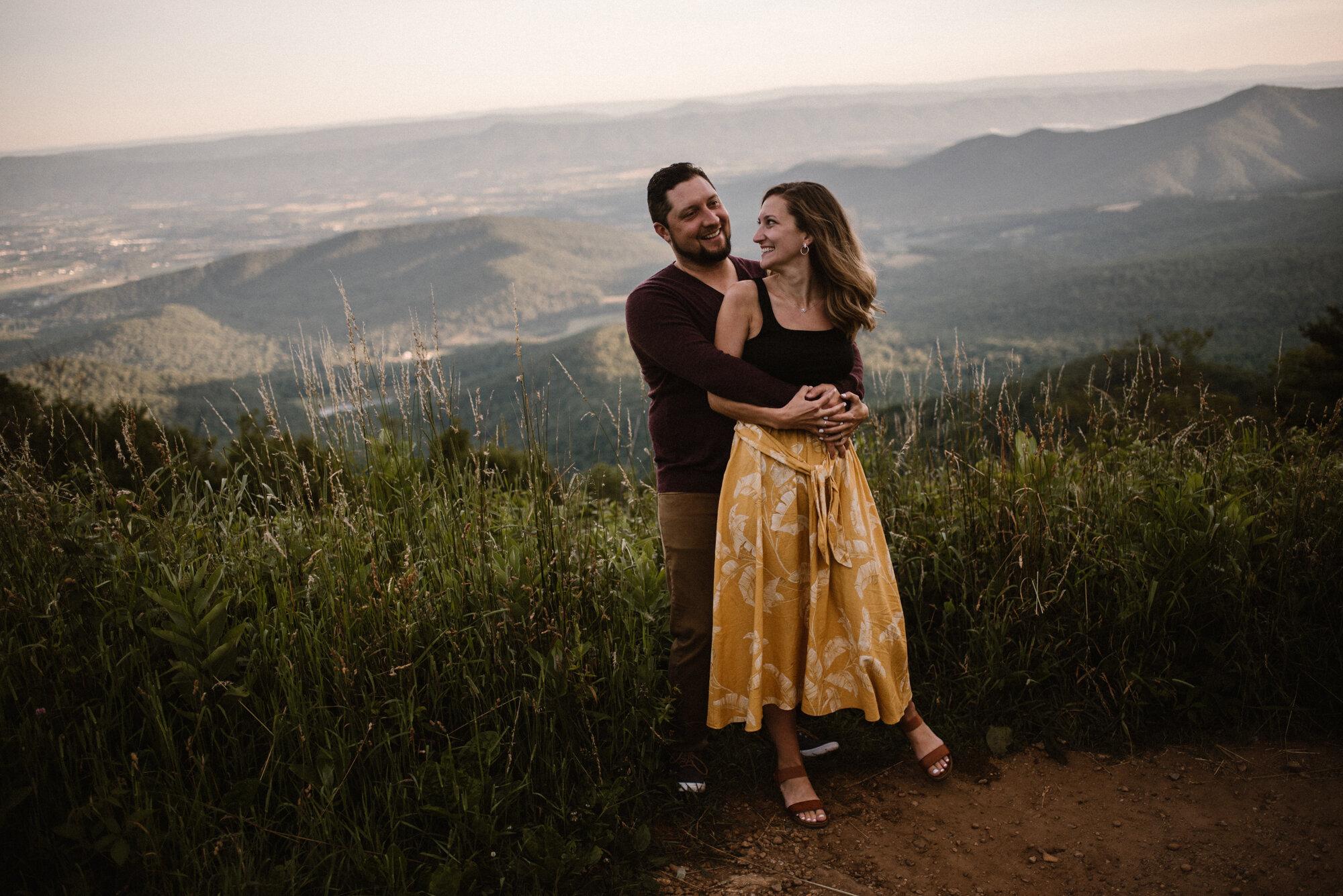 Shenandoah National Park Engagement Session - Sunrise Mountain Couple Photo Shoot - Blue Ridge Mountain Photo Shoot - Shenandoah National Park Photographer - White Sails Creative _19.jpg