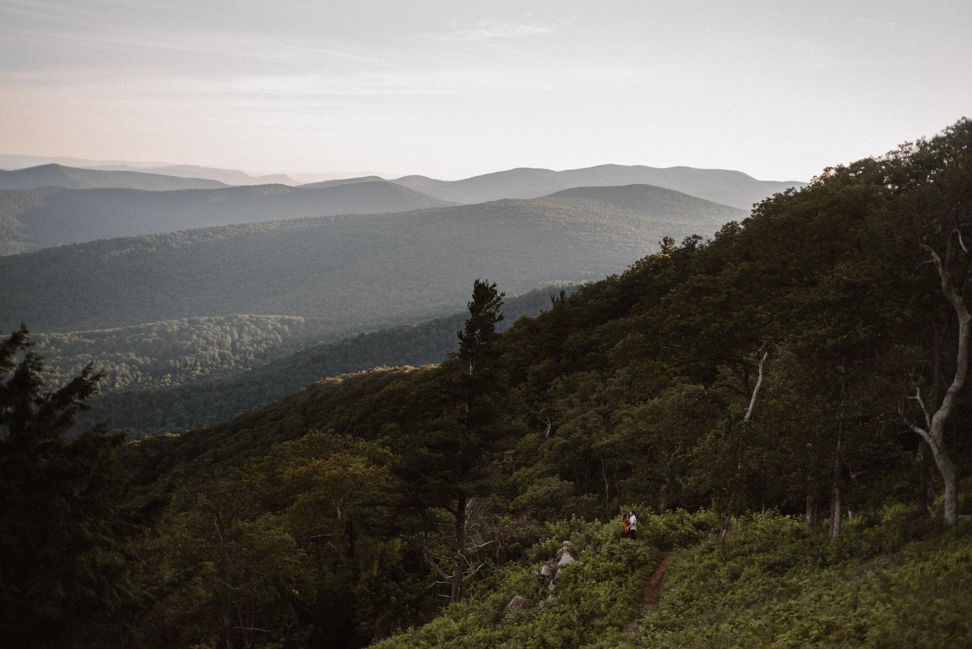 Shenandoah National Park Engagement Session - Sunrise Mountain Couple Photo Shoot - Blue Ridge Mountain Photo Shoot - Shenandoah National Park Photographer - White Sails Creative _20.jpg