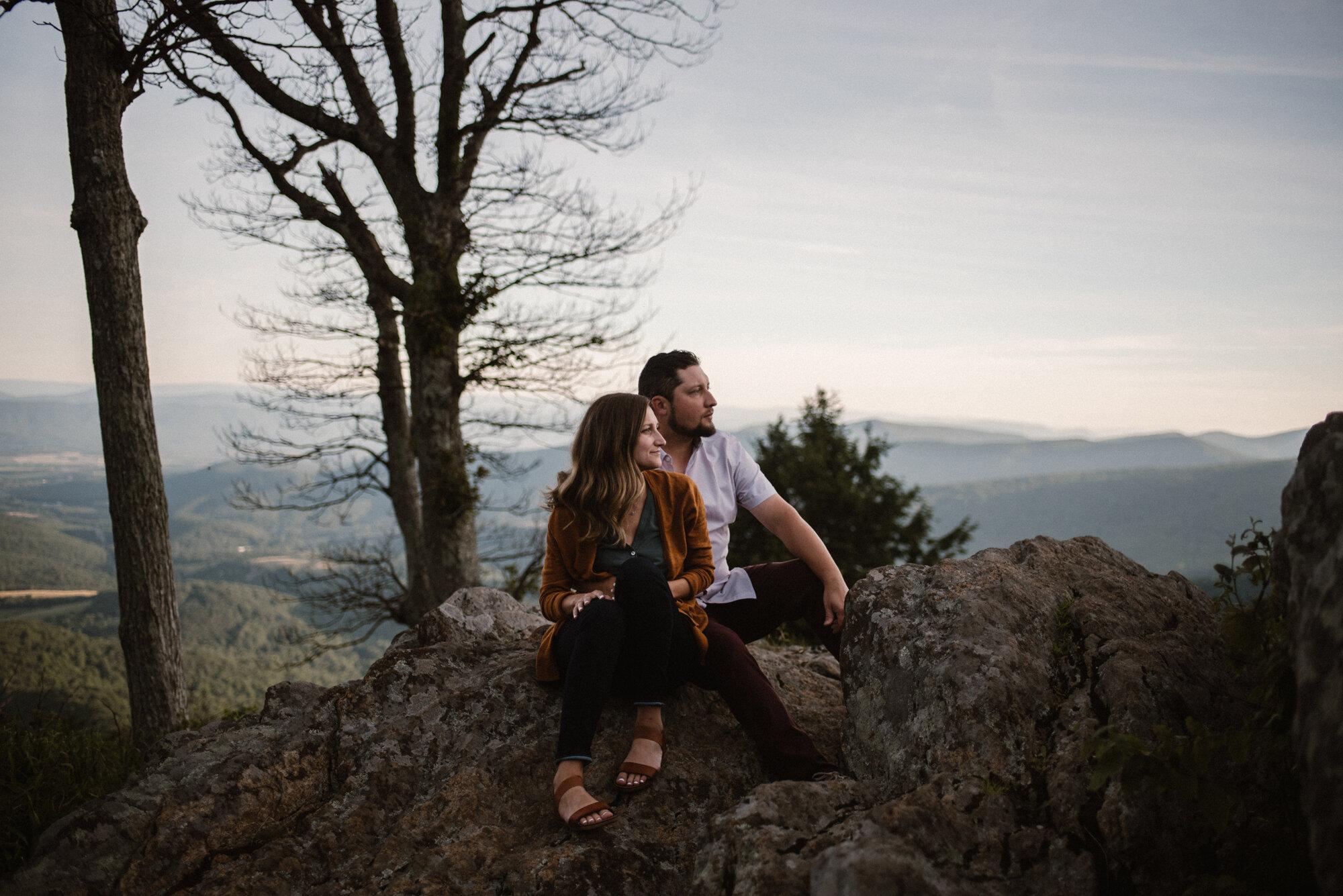Shenandoah National Park Engagement Session - Sunrise Mountain Couple Photo Shoot - Blue Ridge Mountain Photo Shoot - Shenandoah National Park Photographer - White Sails Creative _22.jpg