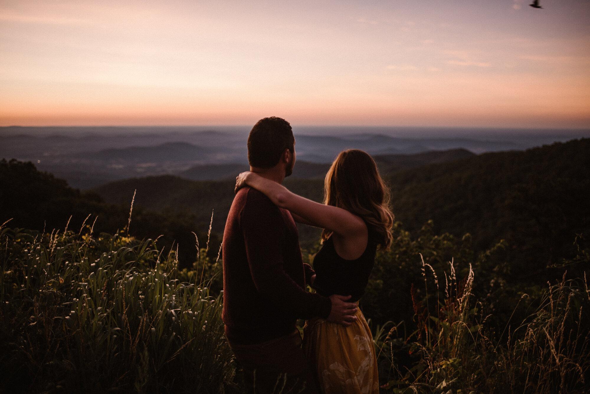 Shenandoah National Park Engagement Session - Sunrise Mountain Couple Photo Shoot - Blue Ridge Mountain Photo Shoot - Shenandoah National Park Photographer - White Sails Creative .jpg