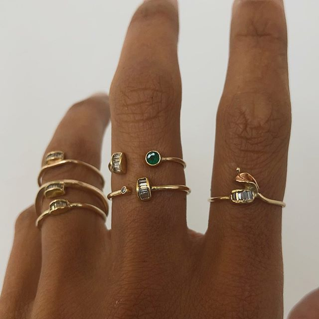 I've pretty much told anyone who will listen about my project, New Kind. I'm repurposing post-consumer and dated fine jewelry into one of a kind pieces.  My first deconstruction/reconstruction recycles baguette diamonds from a pair of once-loved earrings. So far I've made 8 pieces from them & they're up on my website! Link in bio.  #diamondring #diamondjewelry #gold #diamondnecklace #diamond earrings #goldjewelry #repurpose #recycle #consciousconsumer #handmade