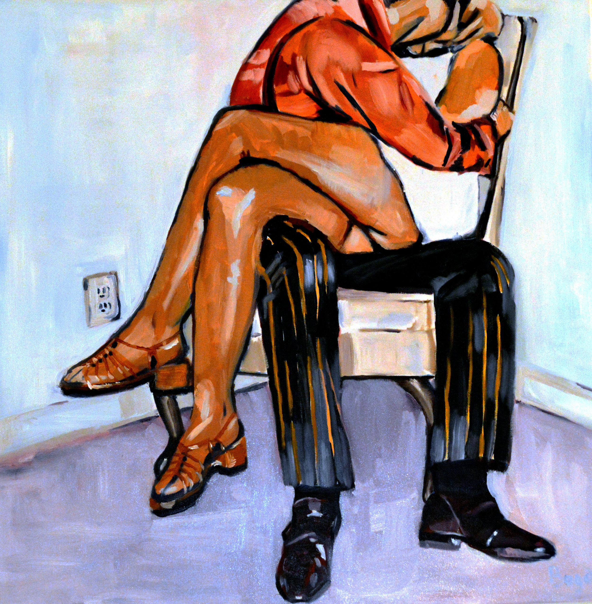 The Kiss - 36X36 Oil on Canvas$1200
