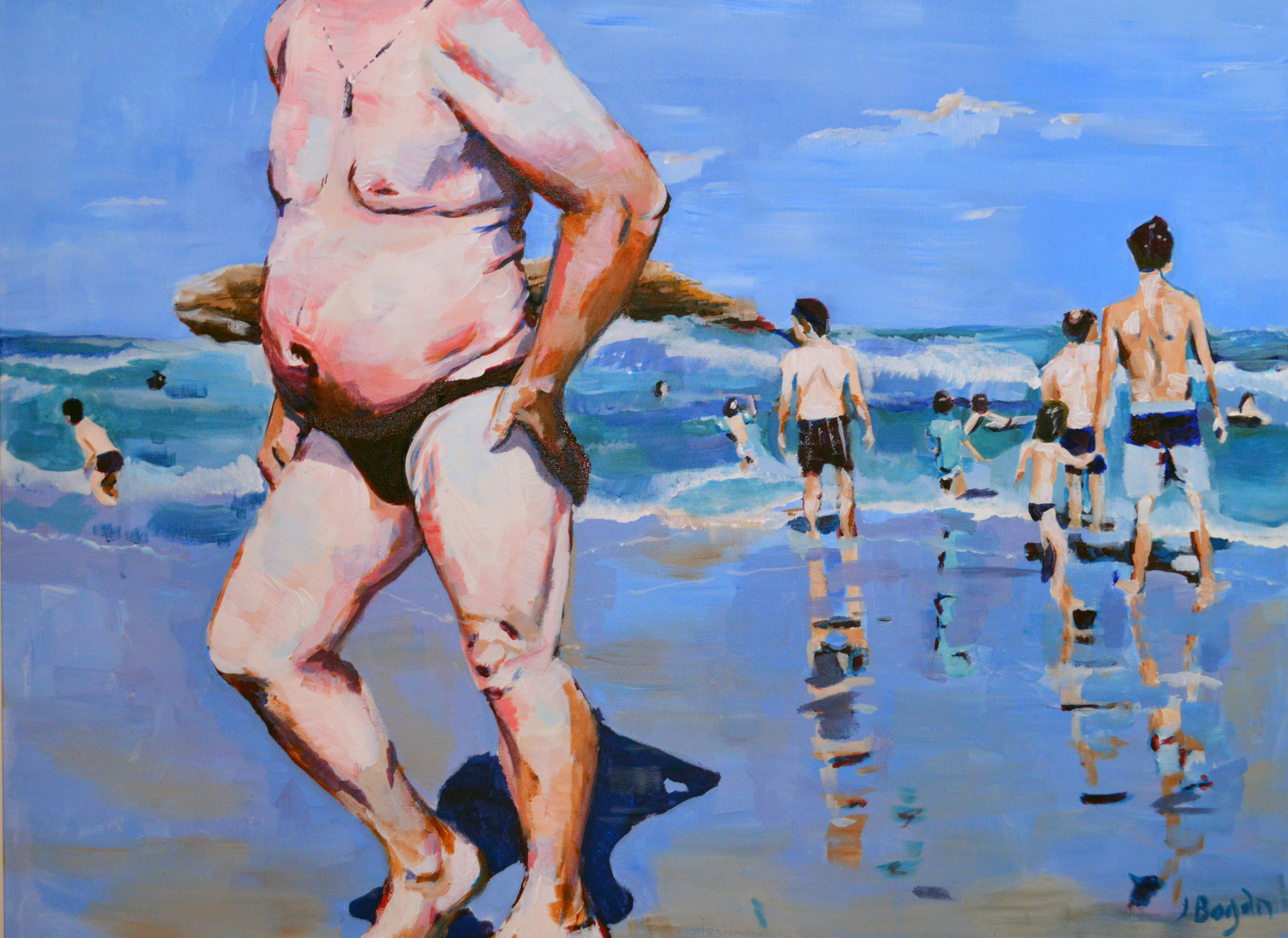 Speedo - 40X30 Acrylic on Canvas$850
