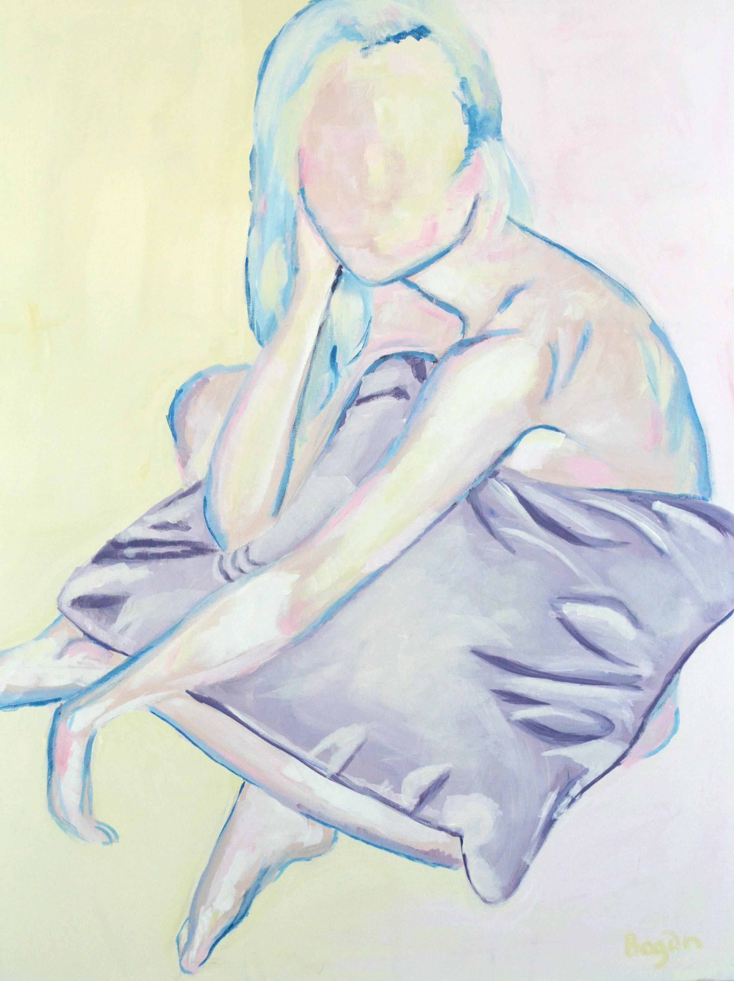 Pillow - 30X40 Acrylic on Canvas$675