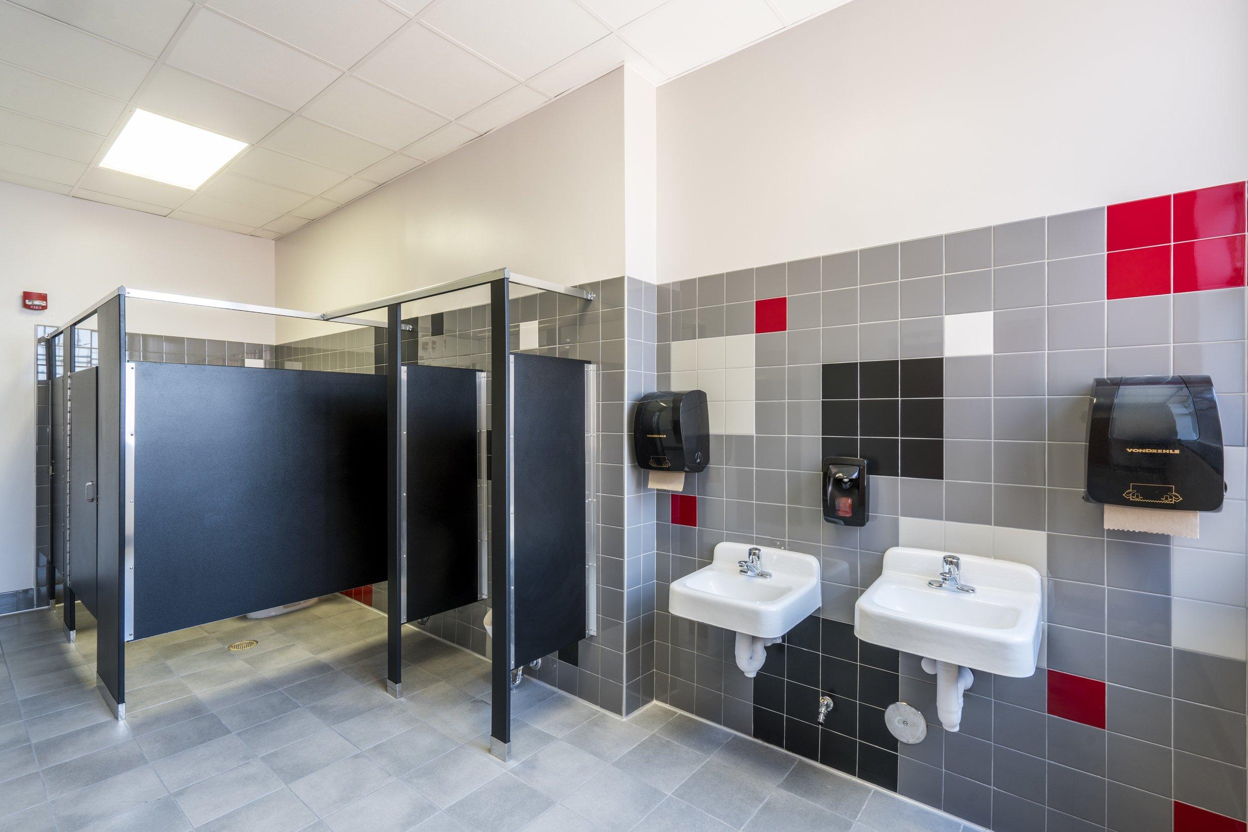 TOILET RENOVATIONS new walls, floors, partitions, fixtures and accessories