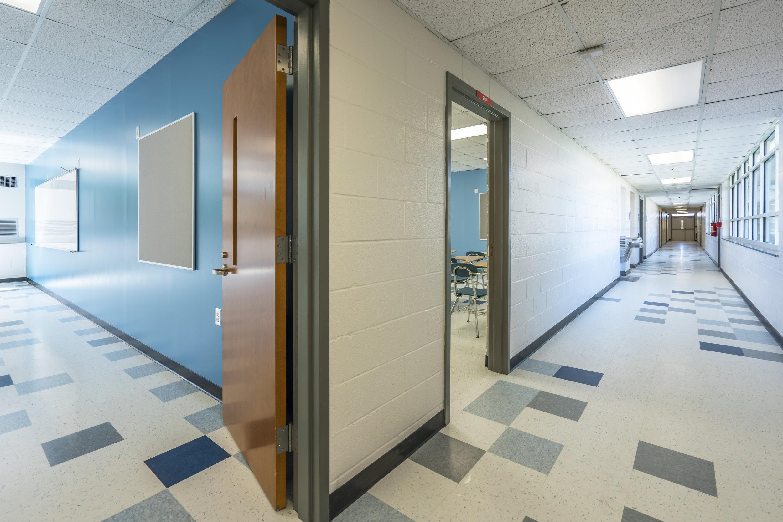 INTERIOR RENOVATIONS |Mills Building - 18,655 SqFt new flooring, wall finishes, doors, marker boards/tack boards, storefront, windows