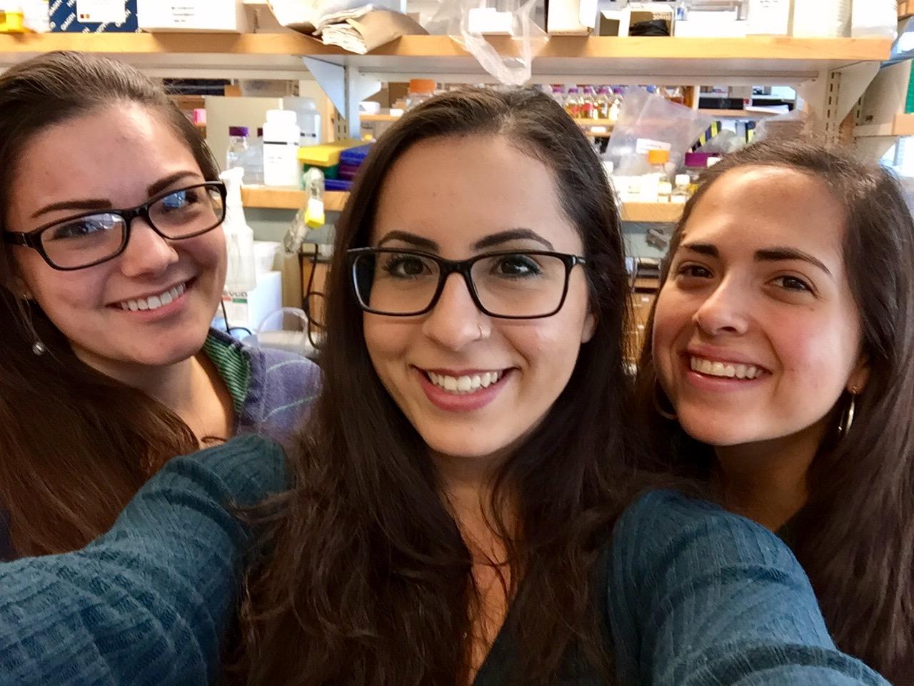 Lab mates at Boston College