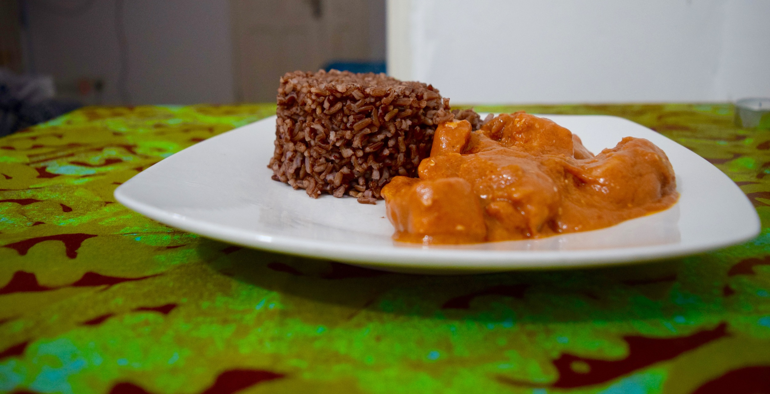 Domoda and brown rice.
