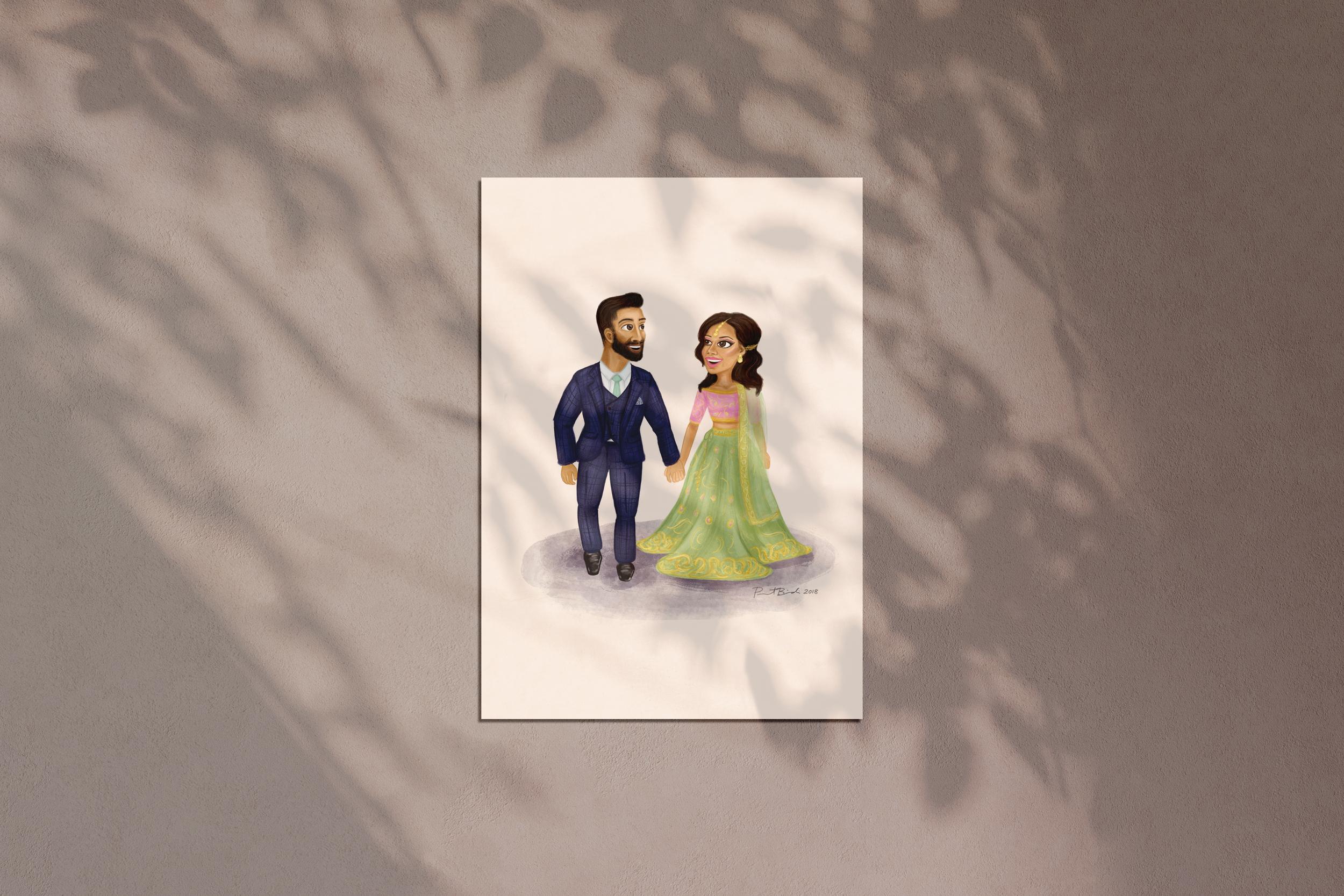 Cartoon illustration of Avi & Navi
