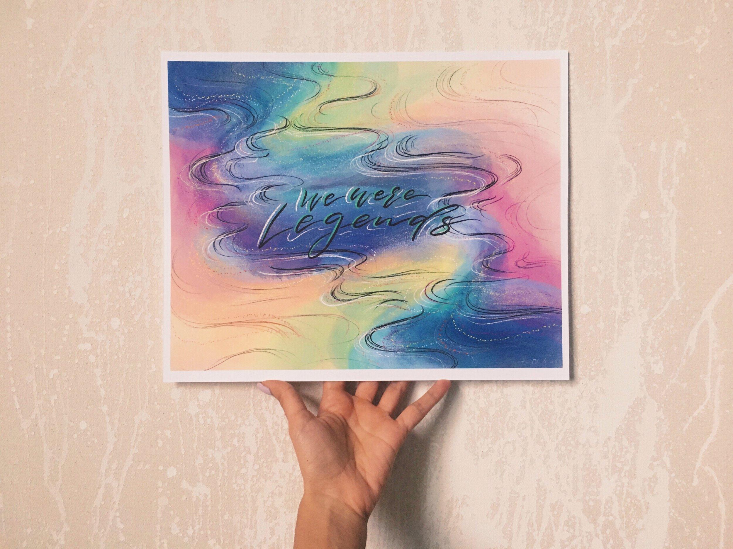 "We Were Legends 11""x14"" Art Print for a Client"