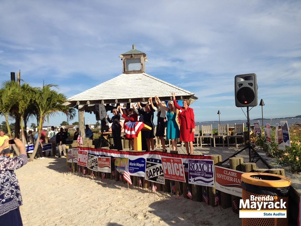 A rally for the county's women candidates in 2014 took place along Indian River Bay and featured Jill Biden, wife of Vice President Joe Biden.