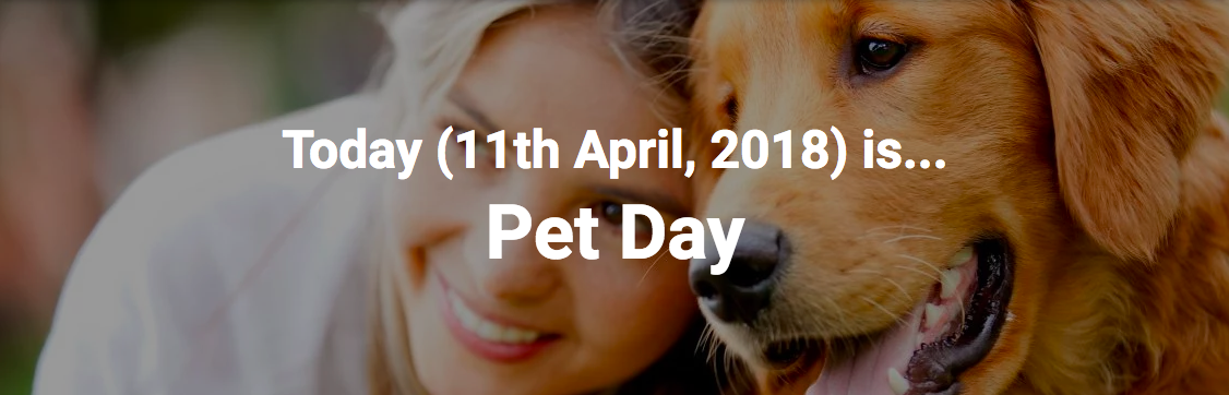 image and text reposted from https://www.daysoftheyear.com/days/pet-day/