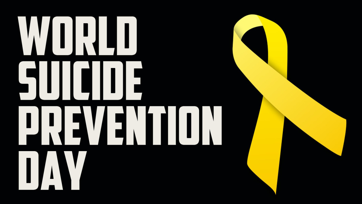Click the YELLOW RIBBON to visit the World Association for the Prevention of Suicide (IASP) website