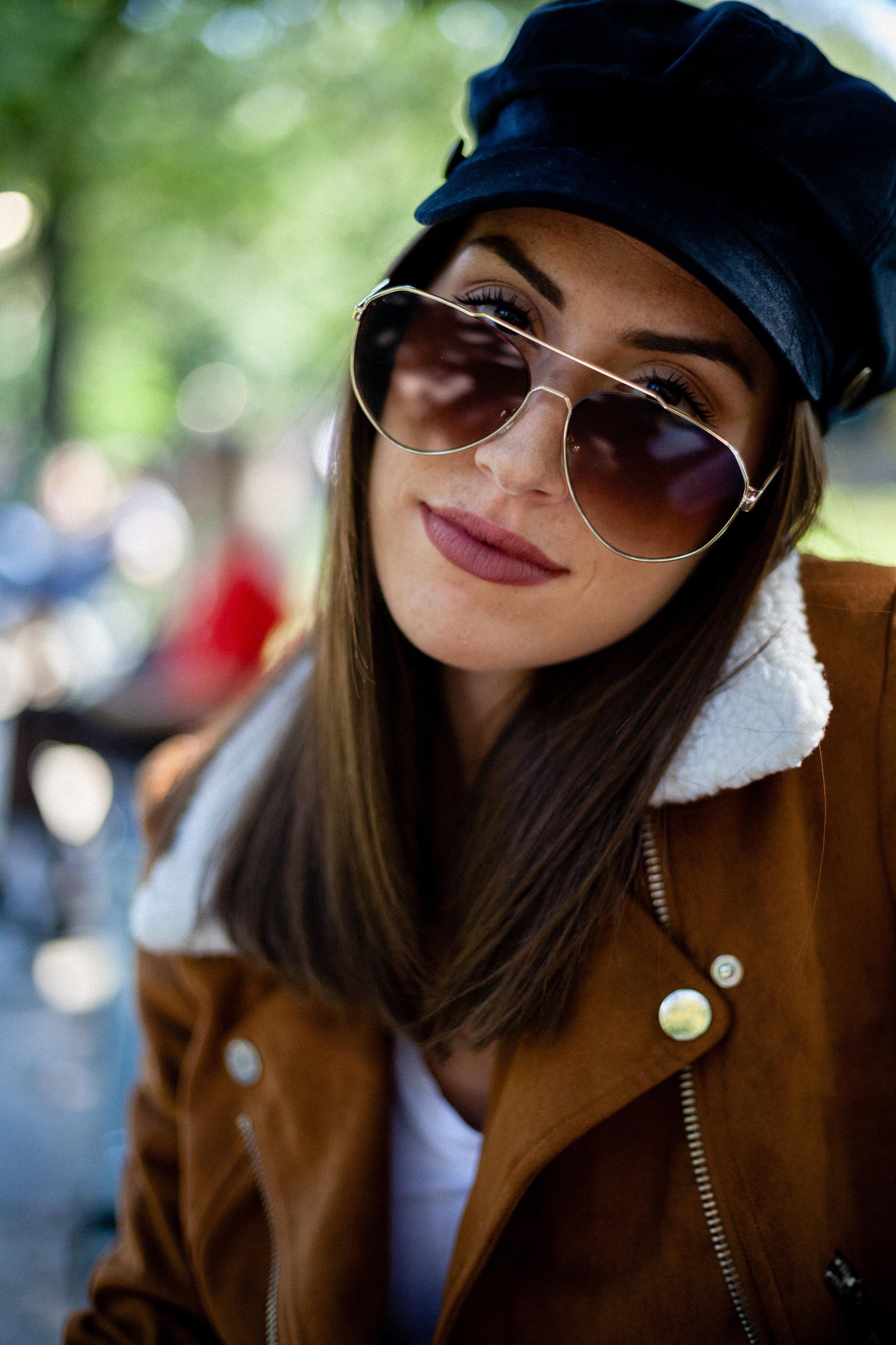 SOJOS Oversized Aviator  Sunglasses  Mirrored Flat Lens for Men Women UV400 SJ1083 with Gold Frame/Gradient Brown Lens
