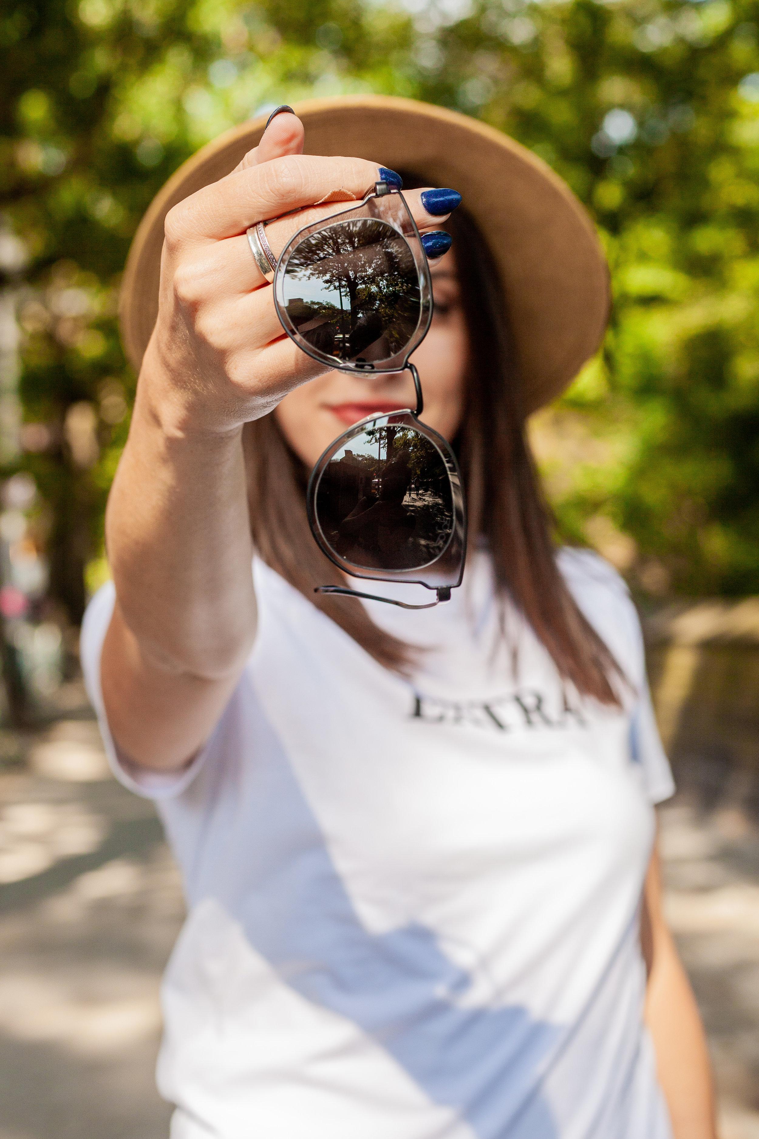 SOJOS Fashion Polarized  Sunglasses  for Women UV400 Mirrored Lens SJ1057 with Black Frame/Grey Lens