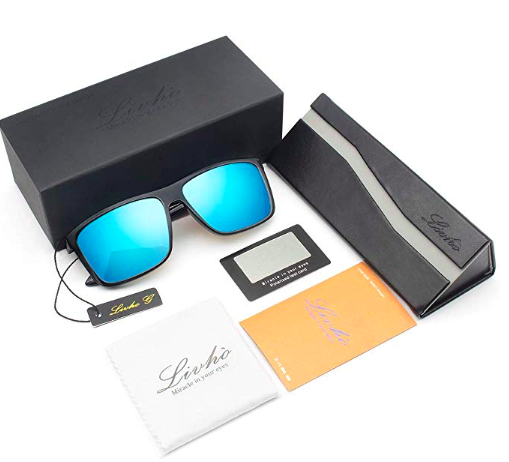 All Livhó Sunglass Packaging - 1 X Pair of glasses, Triangle glasses case, 1 Cleaning soft cloth, 1 Blue Light test Card, 1 Packing box, 1 Livho Tag, Instruction manual, 1 sunglass tool for repairs