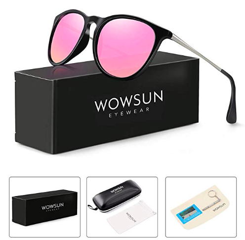 - SUNGLASS PACKAGING1 hardcase, 1 soft case, 1 repair tool, 1 packing case, 1 blue blight uv resistence test, 1 cleansing cloth