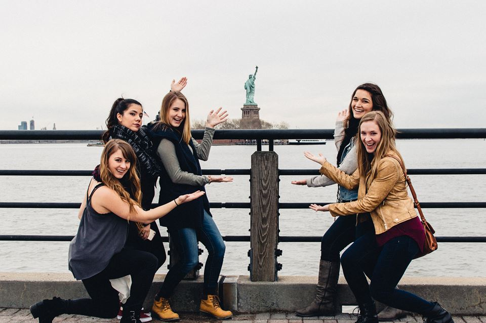 My friends and I on our first day in New York City. We were on our way to meet our English friend who was also visiting.