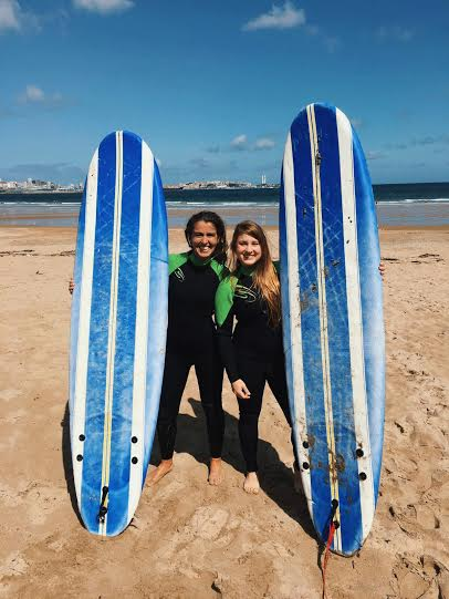 My host mother just began surfing lessons and is the reason I went today! Many thanks to her!