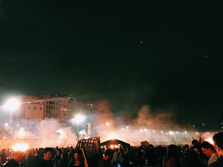 6.23 / 12:02 ante meridiem (technically 6/24) // SAN JUAN NIGHTTT. This night was lit. Literally. Check out my blog post on it--http://goo.gl/GuVcih