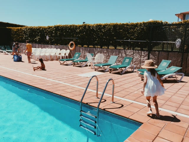 6.21 / 4:04 post meridiem // Another Tuesday post because the pool and because this little girl's hat.
