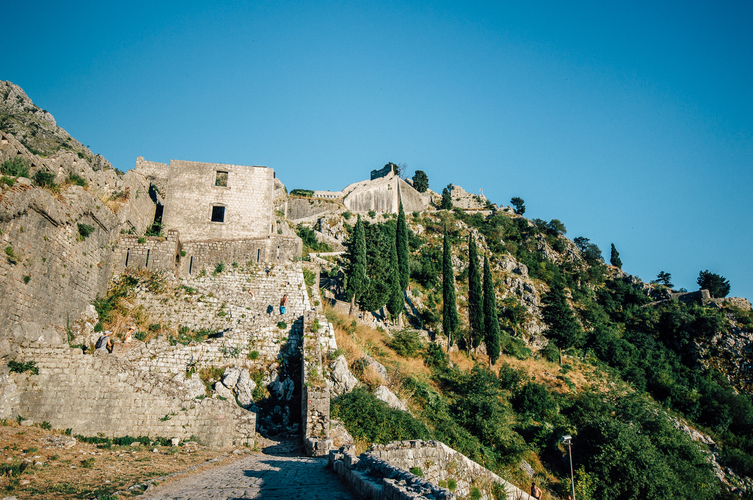 The beautiful walk up the fortress wall