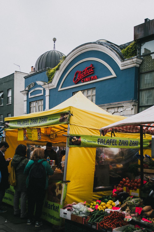 "Brixton Modern ""Blast"" +  Electric Cinema  off Portobello Market in London, England"