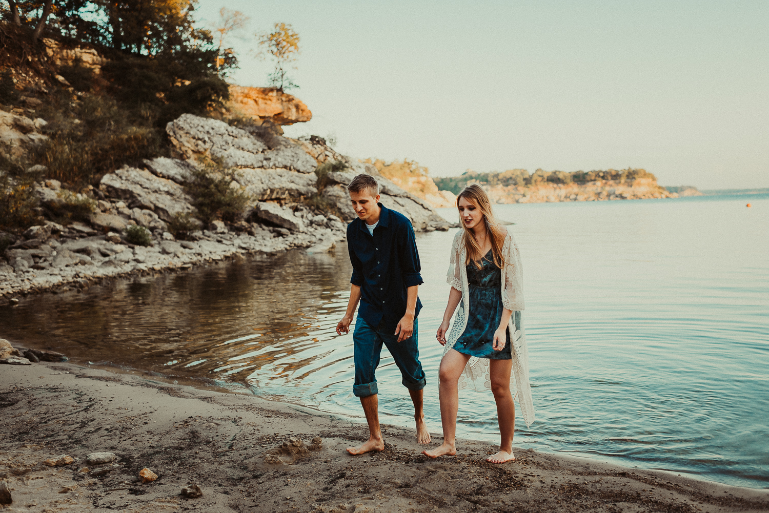 Couples Sunrise Lake Session Dallas Fort Worth
