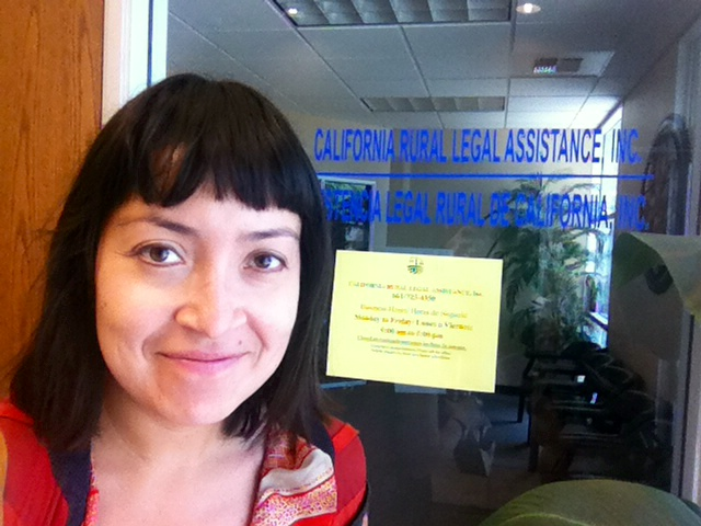 My first day at California Rural Legal Assistance in Delano, California