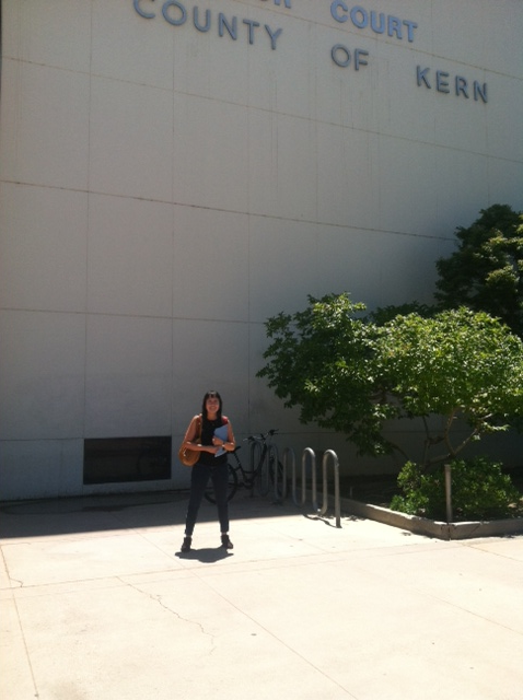 Outside of Kern County Superior Court last week listening to unlawful detainer cases