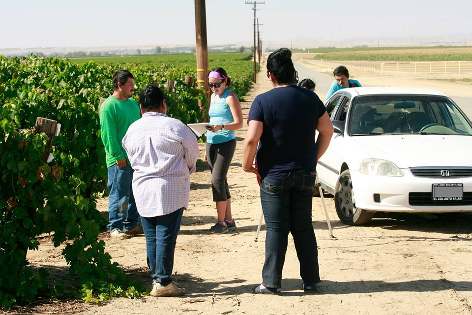 Speaking with farmworkers in the Central Valley—Lamont, California.  Click here  to see a photo essay of more farmworkers in that area.