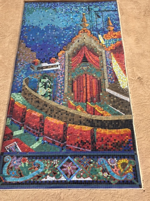 A gorgeous mosaic in Santa Fe's downtown Plaza made by local students