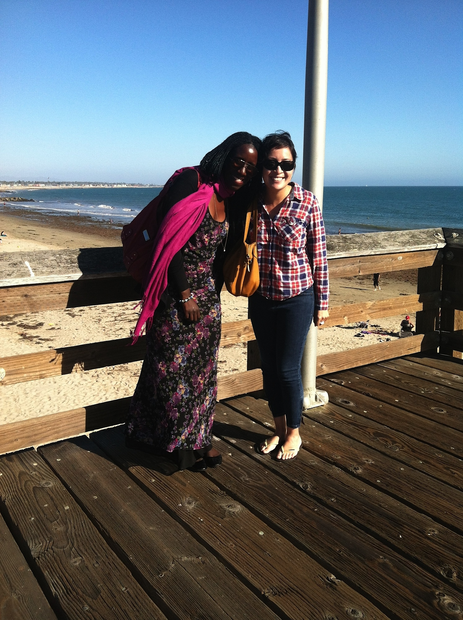 When I was working in Delano, California—it gave me a chance to reunite with one of my first friends I made in Los Angeles, Bintou. It was a treat to go to the coast after those 110+ degree days!