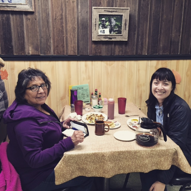 Here I am meeting with a friend's friend's friend's mother (hi Eloise!) in Cut Bank at one of the literal few restaurants in town. It was great to see a friendly face in a 4 degrees of separation type of way!