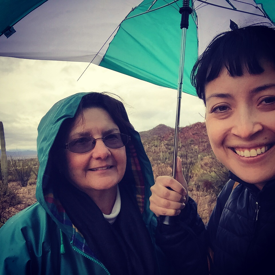 """With Ivy,my Couchsurfing host in Tucson, Arizona. This woman embodies the phrase """"the kindness of strangers."""" For a few weeks, I crashed out at Ivy's place and we had many laughs and great convos."""