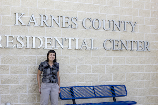 In front of the Karnes City detention center