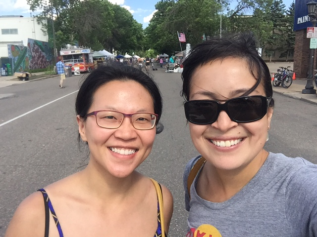 With my host in Minneapolis, Allison!