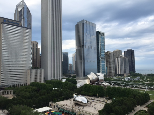 Greetings from Chicago: an aerial view of Cloud Gate, or the bean.
