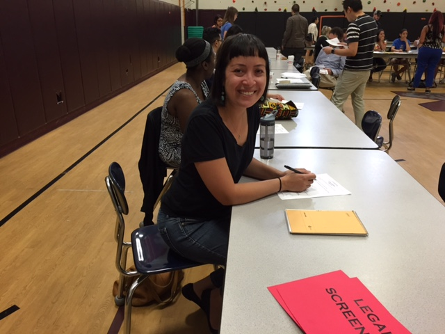 This past Saturday working at a  DACA  clinic at Madero Middle School in Chicago. Although the Supreme Court blocked DAPA last week -- it was great working with some of Chicago's immigrant youth who were out exercising their rights.