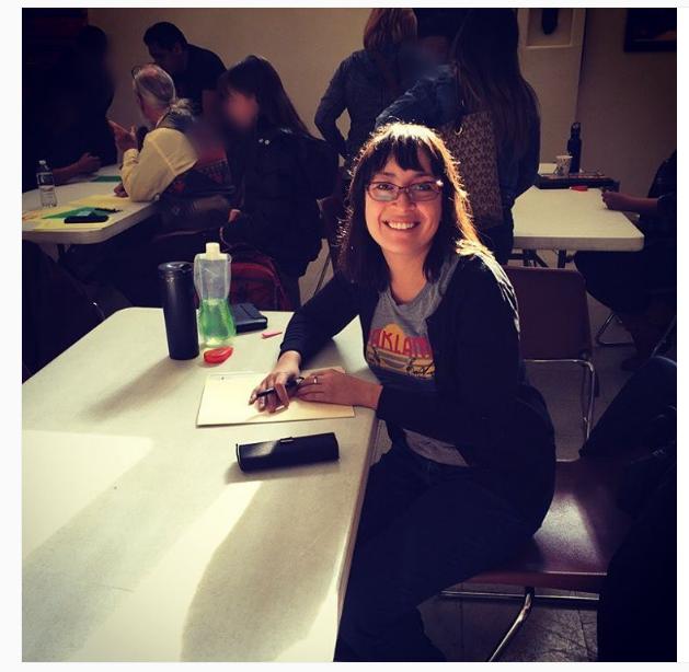 Stop #8: Santa Fe Dreamers Project/Santa Fe, NM -- Here I am at the Friday weekly DACA clinic -- I  love legal clinics!