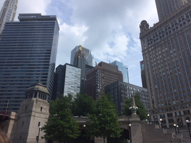 Last views of the skyline along the Chicago River