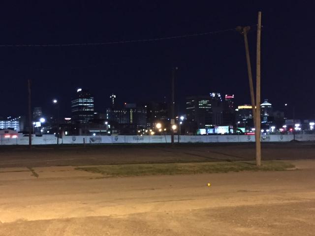 The Detroit skyline from the Corktown neighborhood