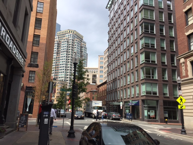 Running a number of personal/professional errands in downtown Boston