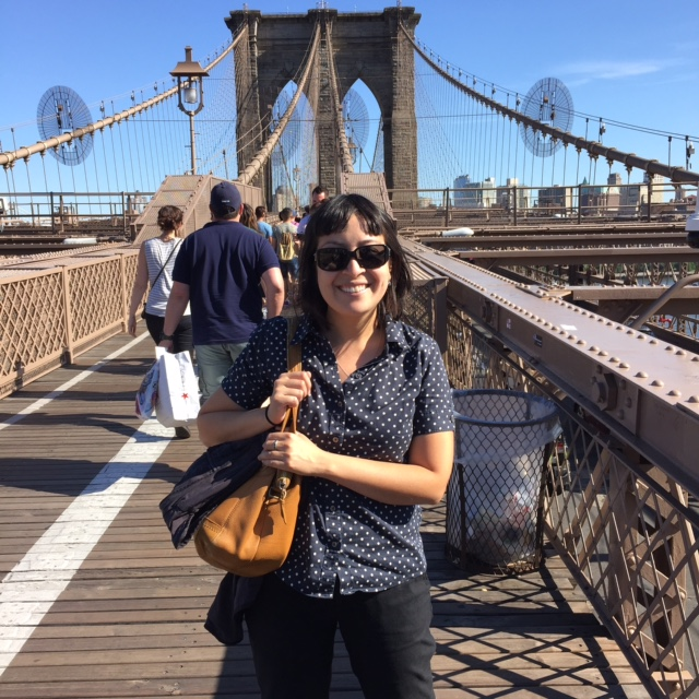 On the Brooklyn Bridge one day after work
