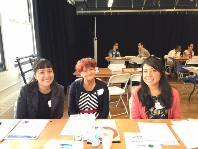Some colleagues and I at CUNY's Citizenship Day at The Door, a Lower Manhattan nonprofit